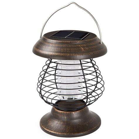 Wakeman Solar Power Led Lantern And Mosquito Zapper .
