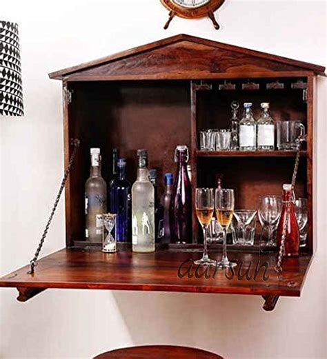 wall mounted bar cabinet india