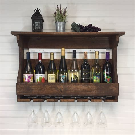 wall mounted wooden wine racks uk
