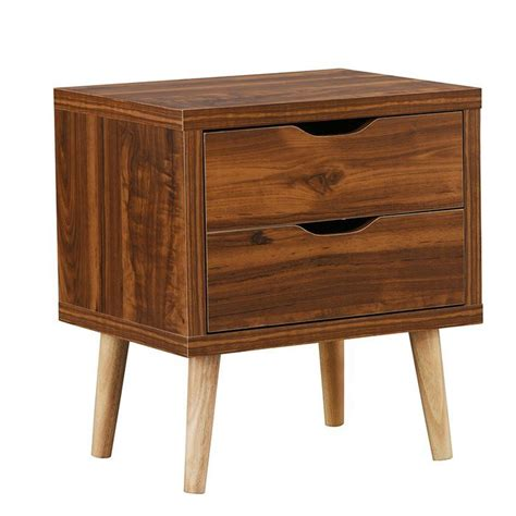 Waltrip Modern 2 Drawer Nightstand