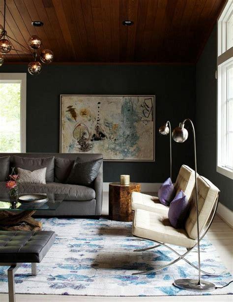 Wandfarbe Wohnzimmer Dunkel