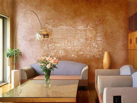 Wandgestaltung Wohnzimmer Wischtechnik