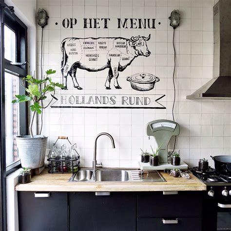 Wandtekening Keuken