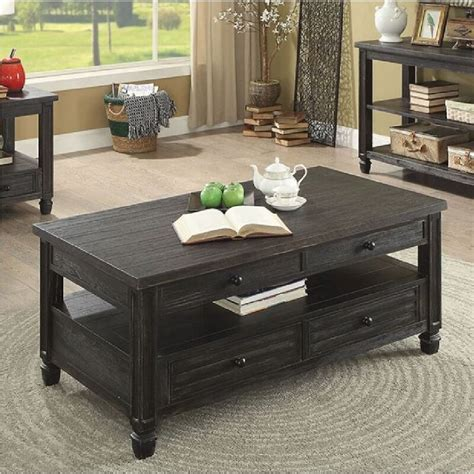 Wardle Lift-Top Storage with Solid Wood Top Surface Coffee Table