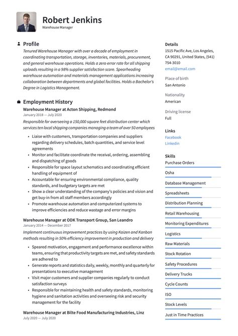 warehouse sample resume job description warehouse manager job description sample monster - Warehouse Supervisor Sample Resume
