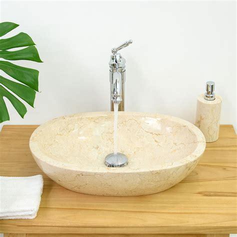 Waschbecken Marmor Oval