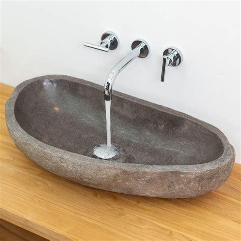 Waschbecken Naturstein Oval