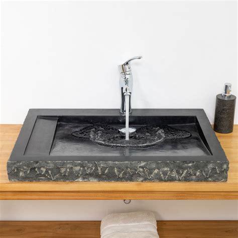 Waschbecken Schwarz Marmor