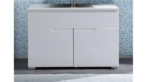 Waschbeckenunterschrank Weiß Hochglanz Stehend