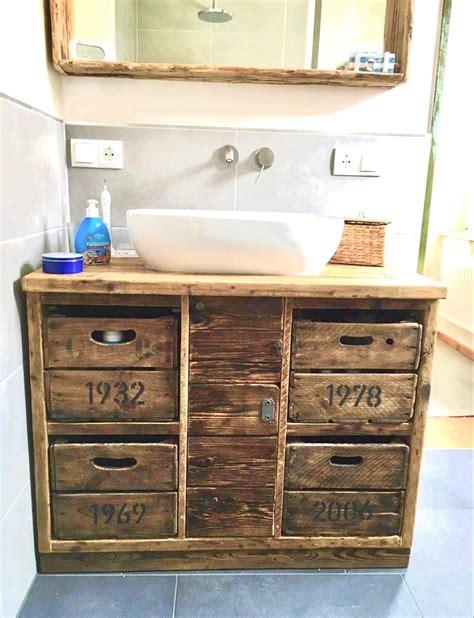 Waschtisch Holz Retro