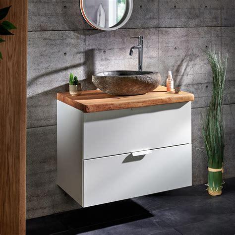 Waschtisch Mit Unterschrank Und Spiegelschrank 80 Cm