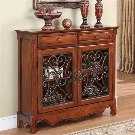 Washington 2 Drawer and 2 Door Console Accent Cabinet