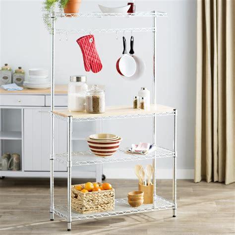 Wayfair Basics Wood Baker's Rack