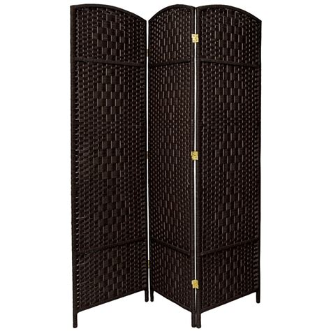 Waynefleet 71 x 58.5 Tall Diamond Weave Fiber 3 Panel Room Divider