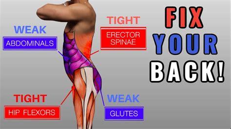 weak hip flexors and pelvic tilt stretches