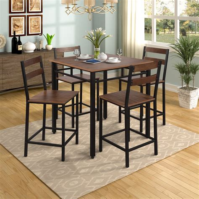 Wegner 5 Piece Counter Height Dining Set