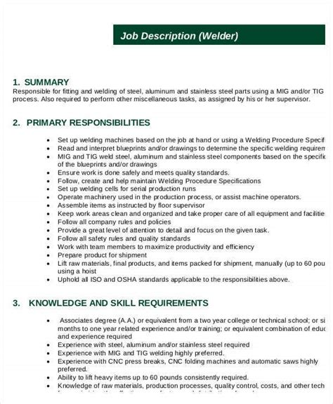 welder job description underwater welder requirements job duties