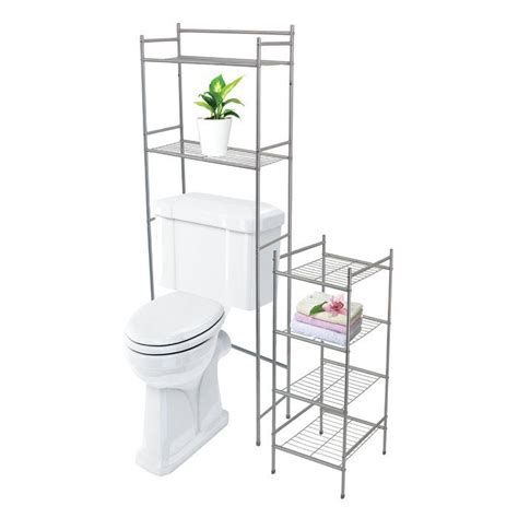 Westover 2 Piece 23 x 56.5 Over the Toilet and Bathroom Shelf Set