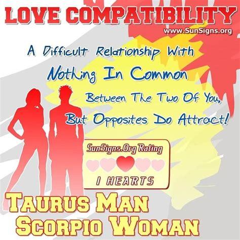 Taurus-Question What A Scorpio Woman For Taurus Man.