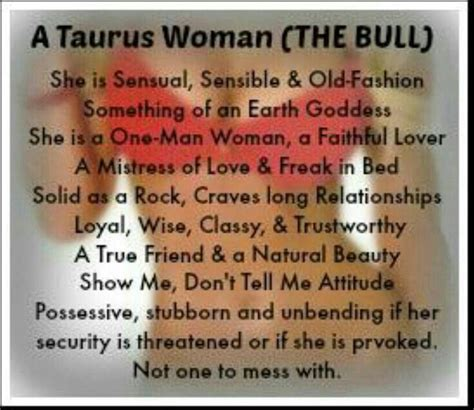 Taurus-Question What A Taurus Woman Wants In A Relationships.