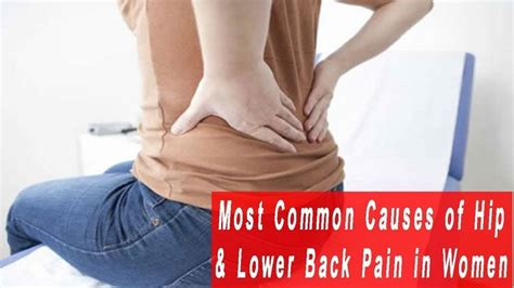 what can cause pain in lower back and hip area