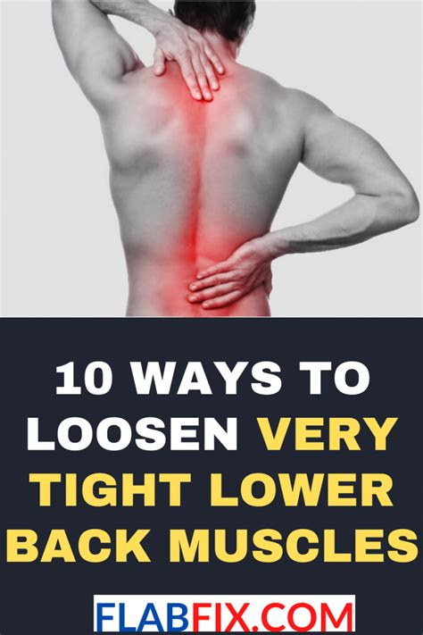 what causes tight muscles in lower back