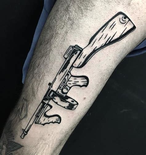 Tommy-Gun What Gang Uses A Tommy Gun Tatto.
