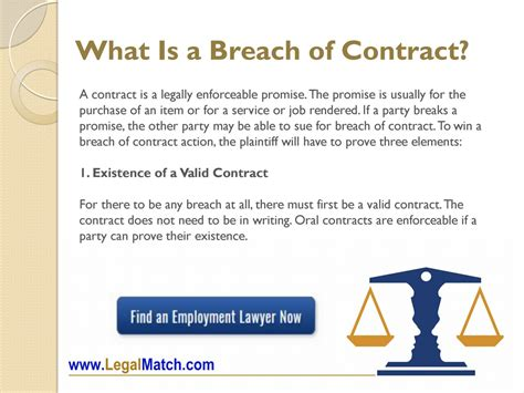 Contract Lawyer Duties What Is A Breach Of Contract Legalmatch Law Library