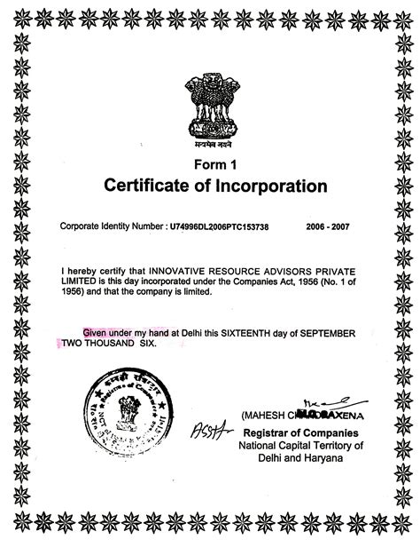 Company Lawyer Abbreviation What Is A Certificate Of Incorporation