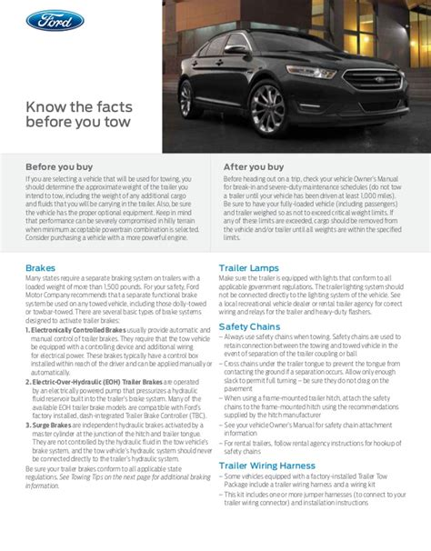 Taurus-Question What Is The 2015 Ford Taurus Towing Capacity.
