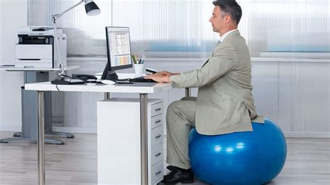 what size stability ball for sitting at desk