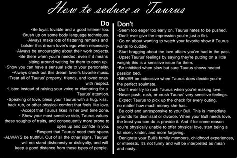 Taurus-Question What To Say To Seduce A Taurus Man.