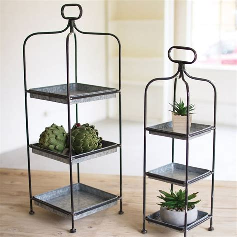 Whicker Metal Display Galvanized Plant Stand