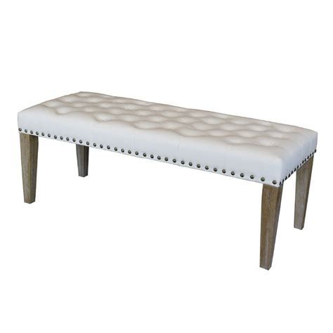 Whipton Faux Leather Bench