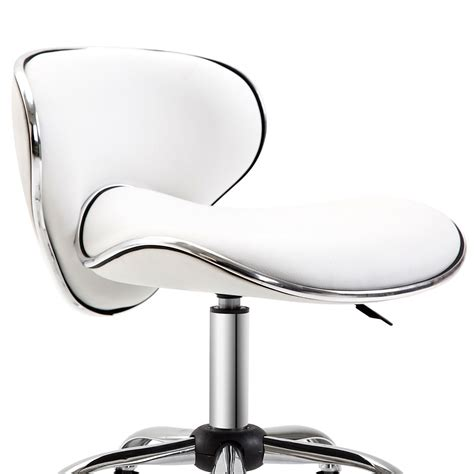 White Armless Office Chair  Ebay.