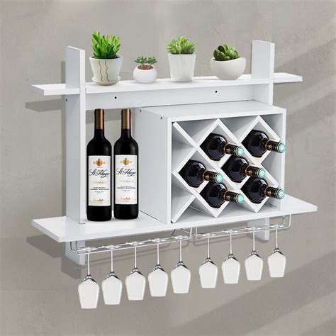 white four glass wine rack