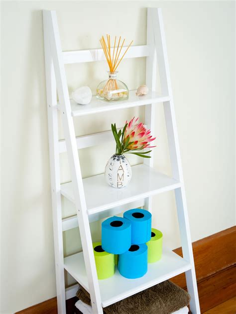 white ladder shelves australia