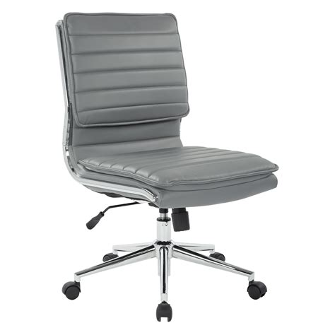 White Leather Armless Chair  Ebay.