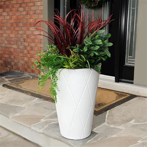 white planters home depot