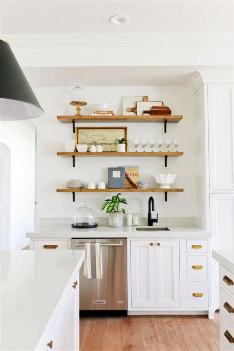 white shelves for kitchen
