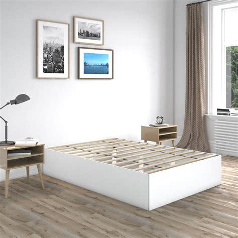 White Bed Platform
