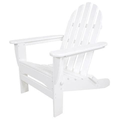 White Plastic Adirondack Chairs Home Depot