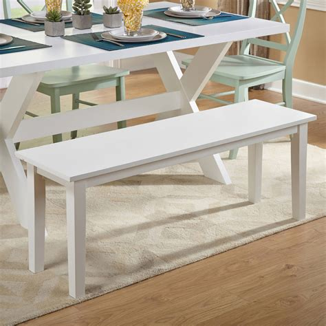 White Wooden Bench