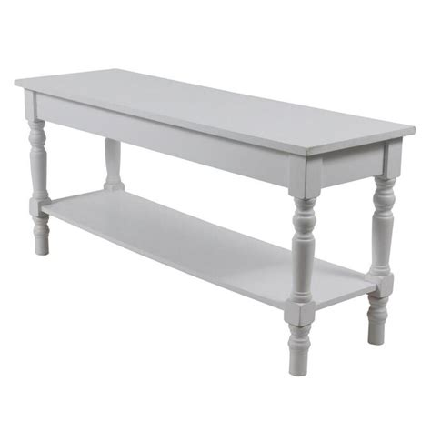 White Wooden Bench Indoor