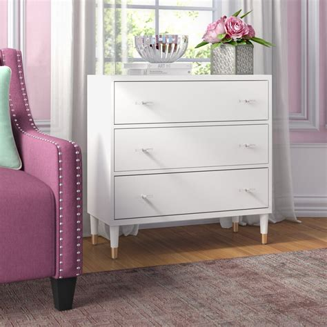 Whiteaker Modern 3 Drawer Accent Chest