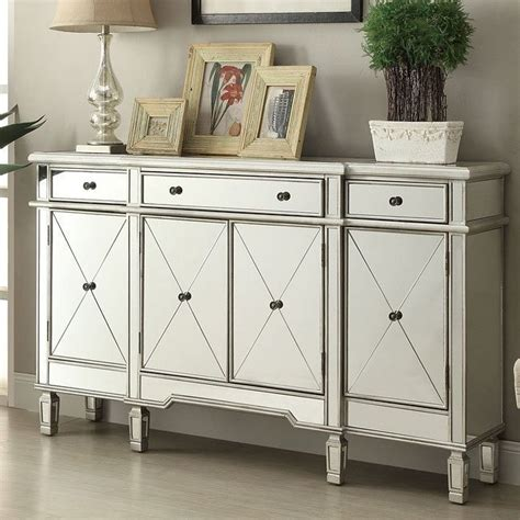 Whitestown Antiqued Mirror 2 Door Accent Cabinet