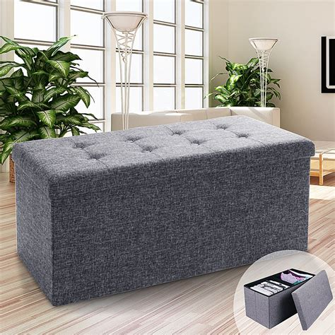 Whitten Collapsible Seat Storage Ottoman