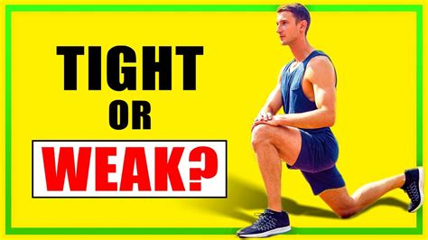 why are hip flexors tighten up youtube