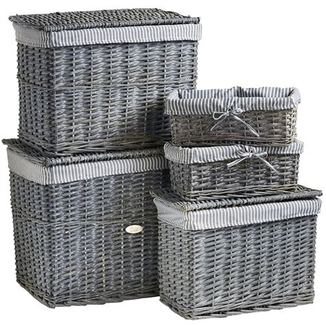 Wicker Storage Trunk Set