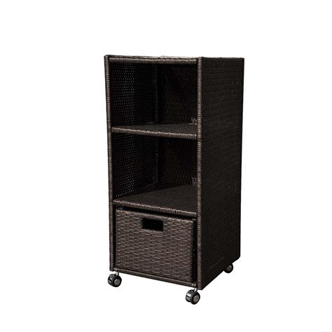 Wicker Bookcase Tower